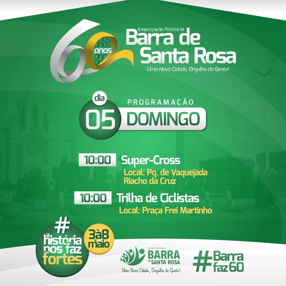 Programação dos dias 05, 06 e 07 da festa de emancipação da cidade foram divulgadas