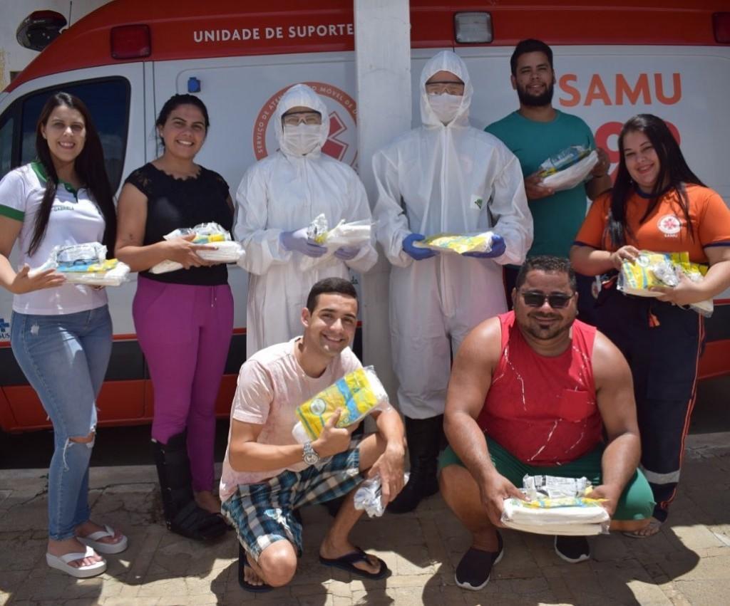 Equipe SAMU recebe EPIs para ajudar na prevenção do COVID - 19