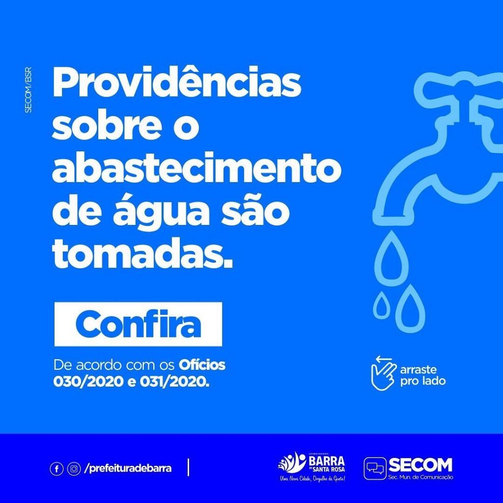 Prefeitura Municipal protocola dois oficios junto com a CAGEPA para que o abastecimento de água seja de forma contínua