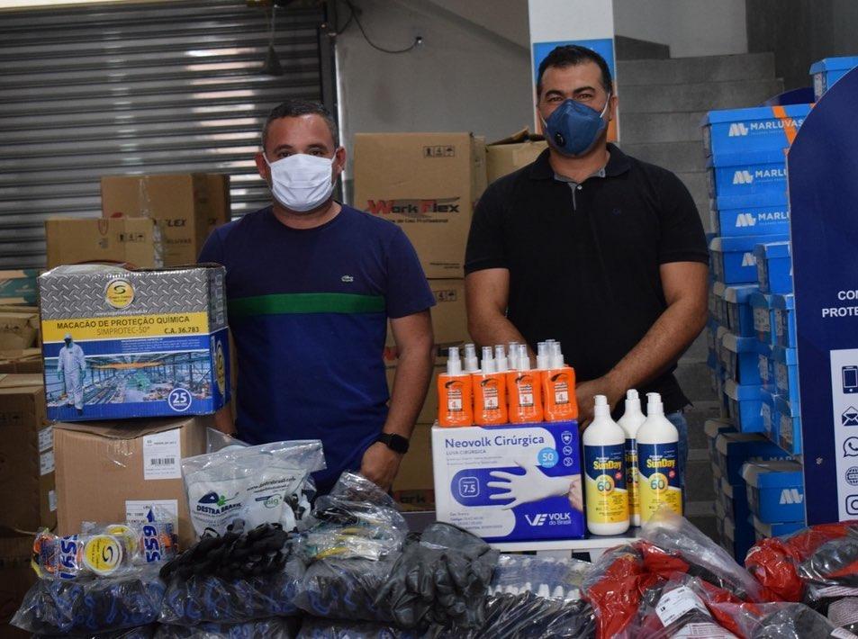 Município recebe importante doação de  EPI's da empresa Safety