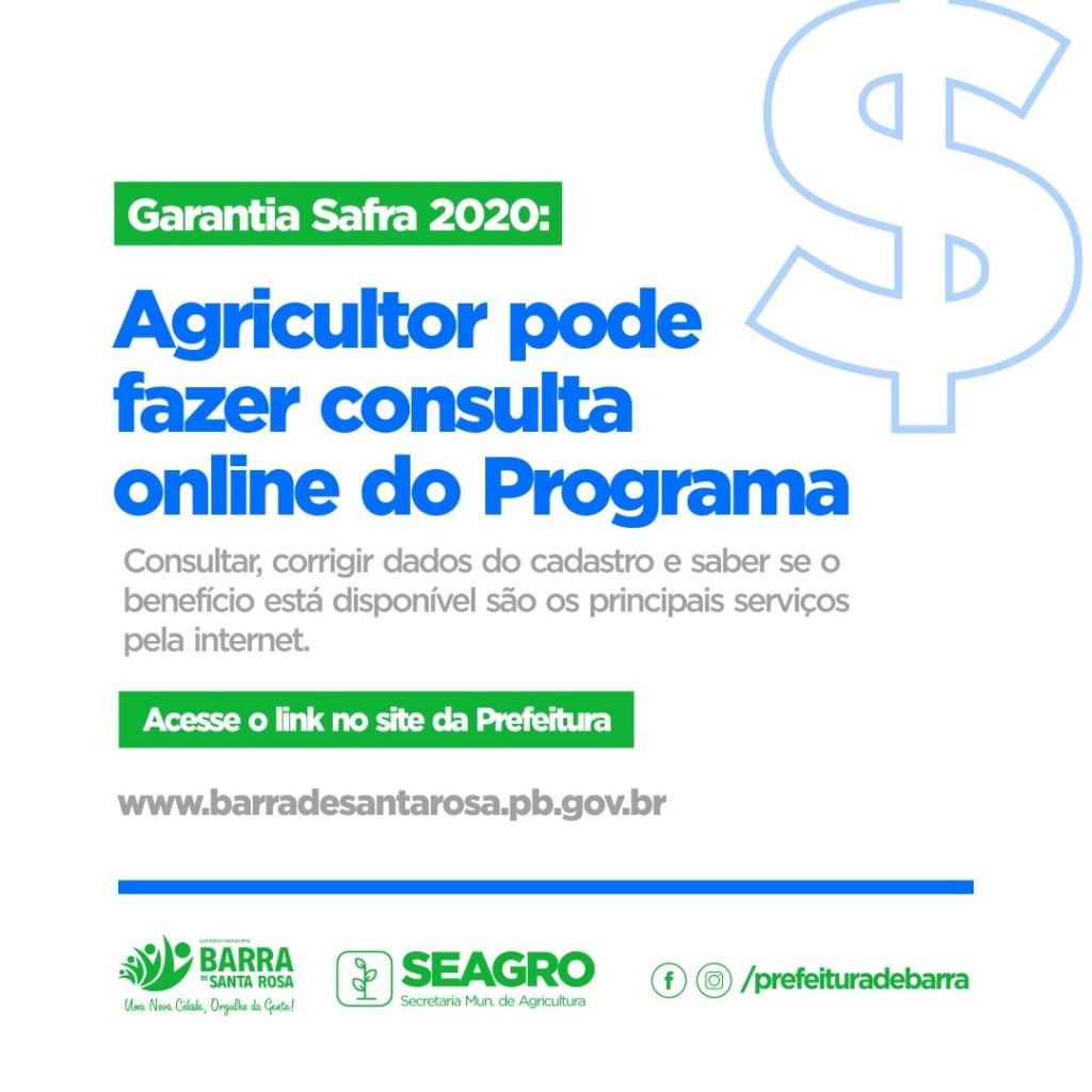 AGRICULTOR: saiba como consultar online o Programa Garantia-Safra