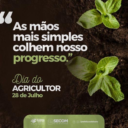 28 de Julho é comemorado o Dia do Agricultor
